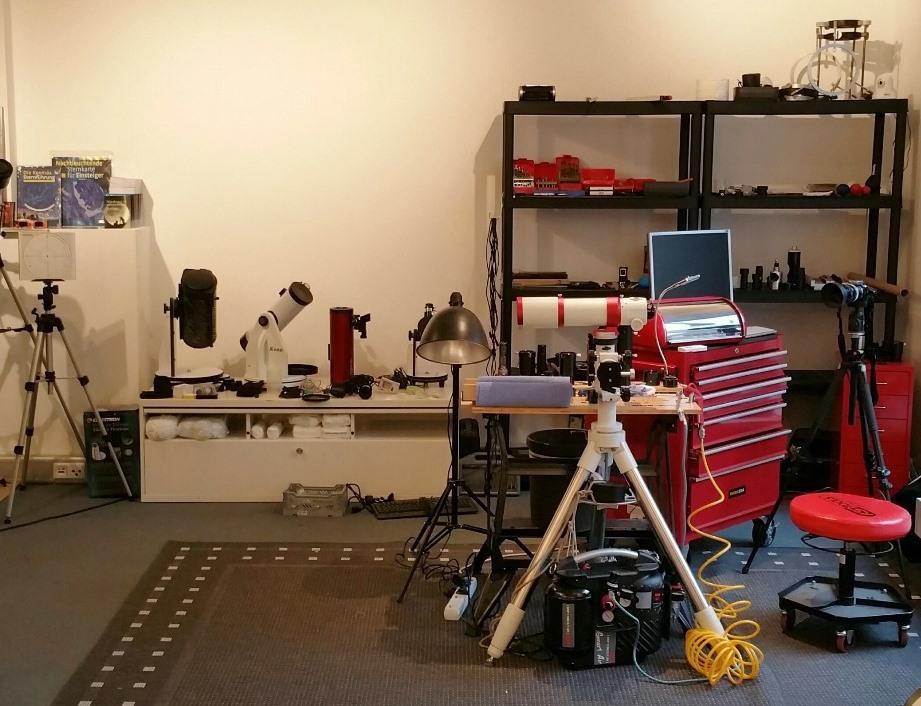 Am Stern Teleskope testen ist auch in der Werkstatt möglich