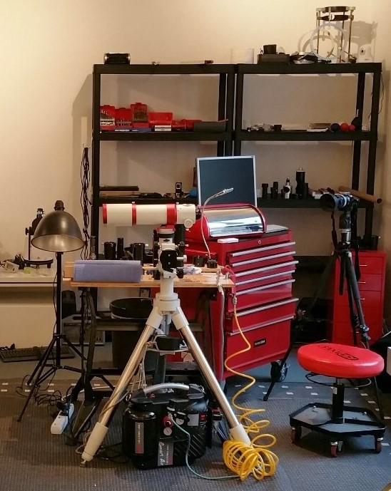 Werkstatt bei den Teleskop Spezialisten