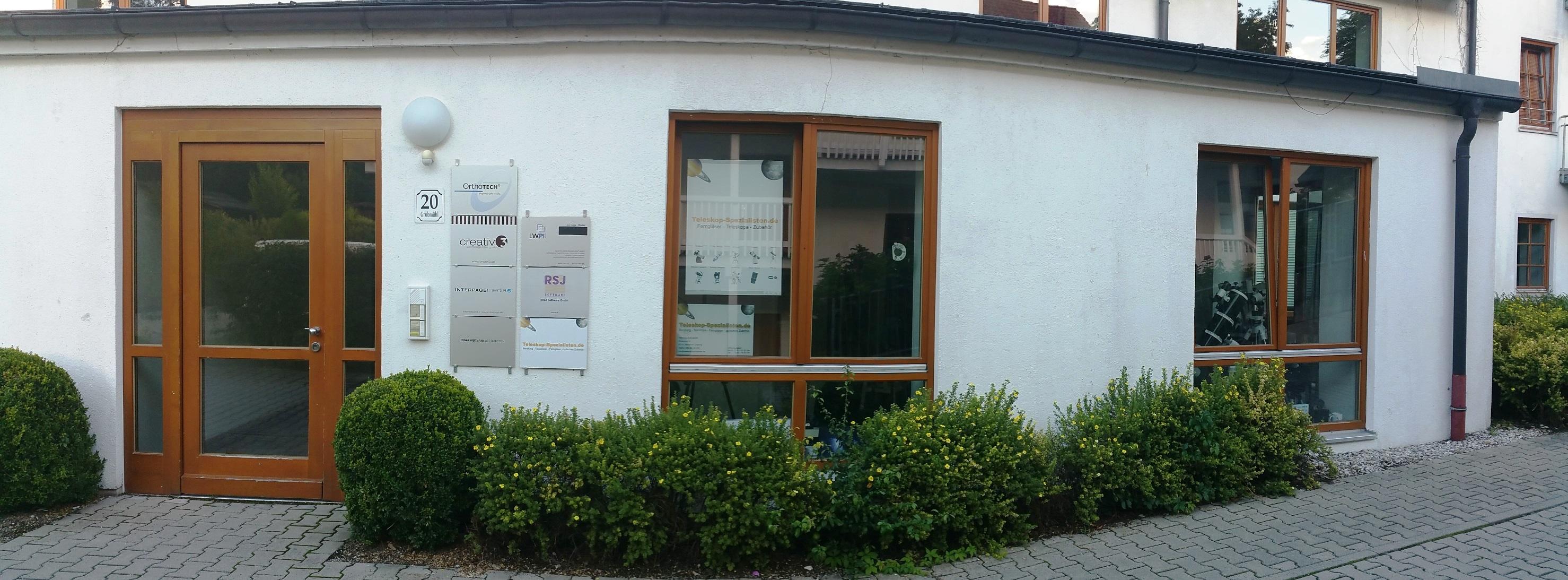 Der Laden der Teleskop-Spezialisten in München