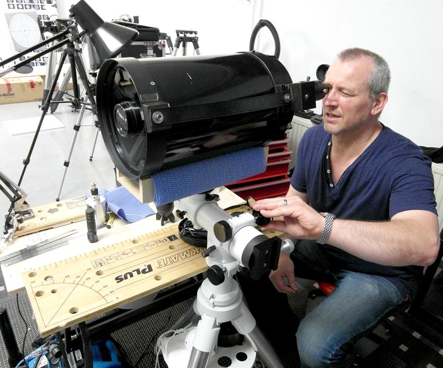 Prüfung und Justage von Teleskop am künstlichen Stern