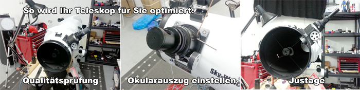 Test und Justage Skywatcher Explorer-150PL EQ3-2 150/1200mm