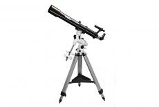 Teleskop Skywatcher Evostar-90 / 900 Refraktor auf stabiler N-EQ3-2 Montierung und Zubehör inkl. Mondfilter Fernrohr