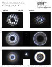 Ein Qualitätsnachweis mit Sterntest und Ronchi für ein Skywatcher Skymax-150 Pro 150mm 1800mm Maksutov Teleskop