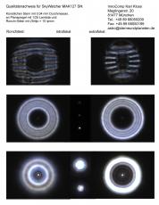 Ein Testbericht mit Sterntest und Ronchi für einen Skywatcher Skymax-127 127mm/1500mm Maksutov: