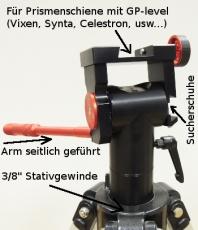 CVN-II Panoramenkopf Montierung von Lacerta mit 3/8 Zoll Stativ-Anschluss 10kg belastbar