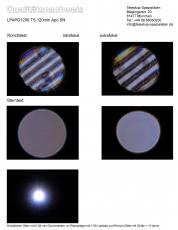 Qualitätsnachweis / Testbericht mit Sterntest und Ronchi für einen LPAPO1209 TS 120mm f7.5 FPL-53 Apo
