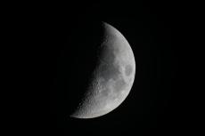 Mond mit Celestron C8 nach Justage