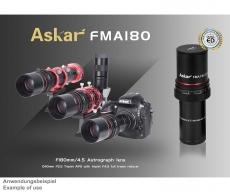 Askar 180mm f/4,5 APO Teleobjektiv Reiserefraktor Leitrohr und Spektiv