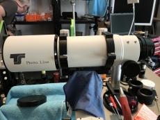 Rückläufer: TS-Optics Photoline 80mm f/6 FPL53 Triplet-Apo 2,5 RPA Zahnstangen-Auszug