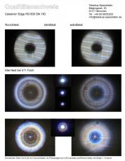 Sterntest und Ronchi für ein Celestron Edge HD 800 203/2032mm Fl