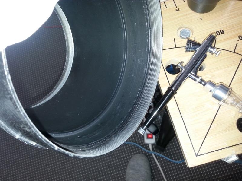 Hier reinigen wir einen skywatcher refraktor mm