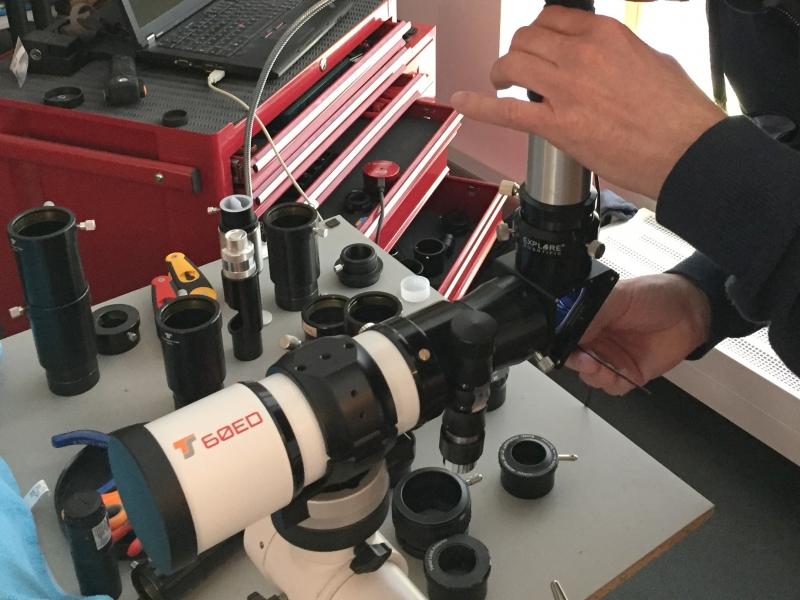 Bresser teleskop justieren: bresser skylux el teleskop mit ng