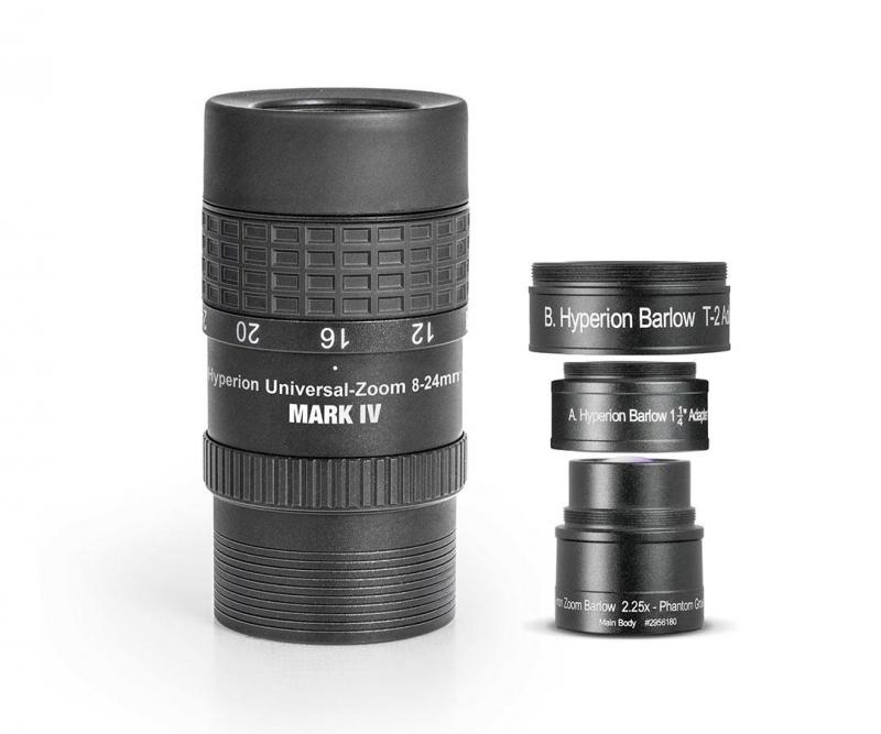 Baader Hyperion Zoom Okular Mark IV Kombi mit Barlow 3,5mm bis 24mm