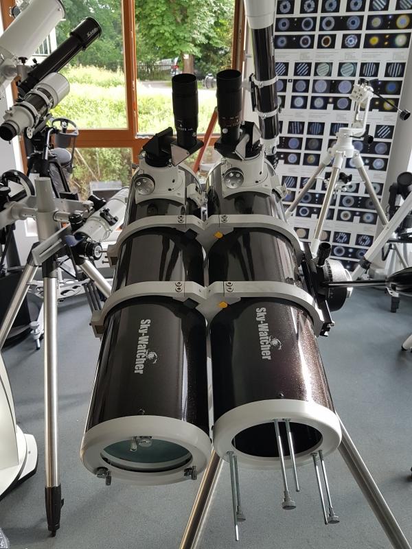 Unser neuer Prototypen eines Doppelteleskops (Bino) mit zwei Newton. Ein Doppelnewton.