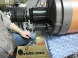 Reparatur eines älteren Celestron C5 mit verharztem Fokussierer.