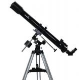 Teleskop Skywatcher Capricorn-70 70/900mm auf EQ1 Montierung Refraktor mit Zubehör