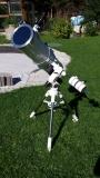 Für den Glas-Sonnenfilter Astrozap oder Orion für den Bresser Messier NT-203 Newton muss der Ring um den Tubus abgenommen werden
