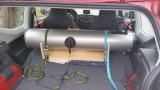 Eine Idee wie man sein Teleskop in einem Kombi transportieren kann.