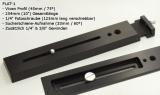 Lacerta PLAT-1 Doppel-Befestigungs-Schiene Parallel-Plattform mit Sucherschuhe und Teleobjektiv-Halterung