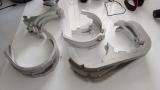 Der Bino-Prototyp nimmt Formen an: Einzelteile für das Doppelteleskop