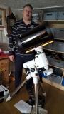 Noch ein zufriedener Kunde mit einem Celestron C9.25 Teleskop und SkyWatcher EQ6 SynScan Montierung