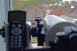 Turmfalke mit SkyWatcher SkyMax 127 Maksutov Teleskop und DSLR Kamera