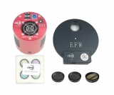 ZWO Kit ASI1600MM Pro 8pos filter wheel 1.25 L-RGB and 3x fog filter (H-alpha, S-II and O-III)