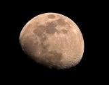 Mond mit APO Photoline 80/500 Carbon, Nikon D500, ohne Filter, Einzelbild