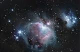 M42 Orionnebel in HDR mit 150mm f/5 Newton an 1,25 Okularauszug mit DSLR ohne Komakorrektor