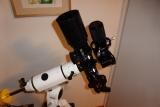 Kamerahalterung um eine DSLR mit Objektiv auf Rohrschelle von einem Teleskop zu montieren