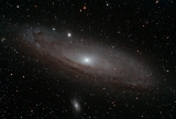 Andromeda-Galaxie M31 mit EQ6 72mm-ED-Skywatcher APO, ASI294 MC Pro, CLS-CCD-Filter Guide-Rohr mit ASI120, ASIAir