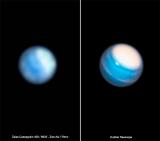 Uranus im Vergleich mit dem 400 mm Zeiss Cassegrain und der Hubble Aufnahme