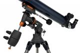 Celestron AstroMaster 90EQ auf CG-3 Montierung Refraktor Teleskop