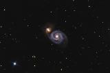 Aufnahme von M51 mit Explorer 150PDS ZWO ASI183MC und Celestron AVX
