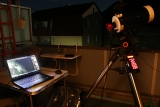 Eine Balkonsternwarte mit Celestron AVX und SkyWatcher SkyMax 127 und Mondaufnahme