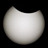 Partielle Sonnenfinsternis mit dem TS Photoline 60