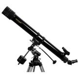 Teleskop Omegon 70/900 Refraktor auf EQ-1 mit Stativ